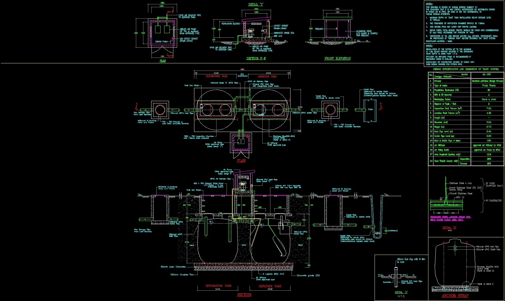 Details Septic Tank Dwg Detail For Autocad Designs Cad Schematic Additional Screenshots