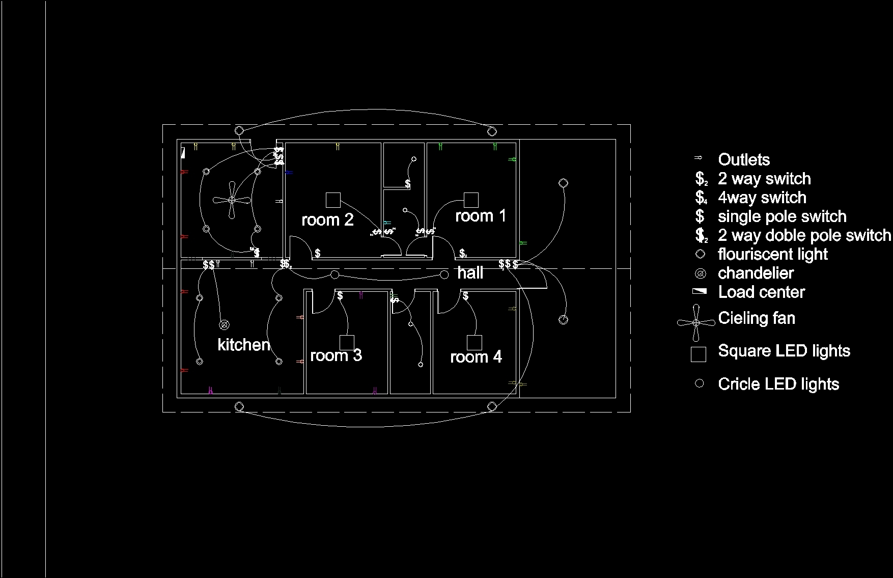 Electrica House Plan Dwg For Autocad Designs Cad 2 Way Switch Single Pole Additional Screenshots