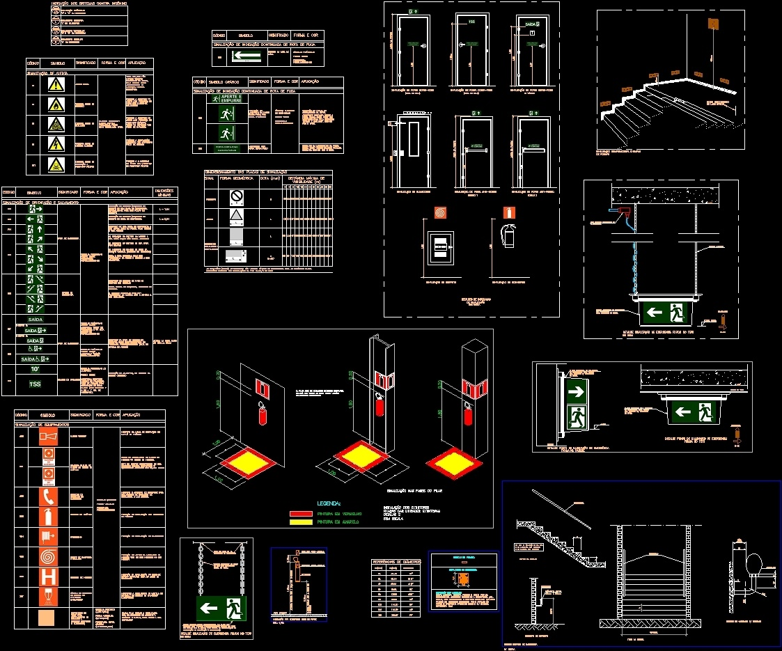 Emergency Exit Dwg Detail For Autocad Designs Cad