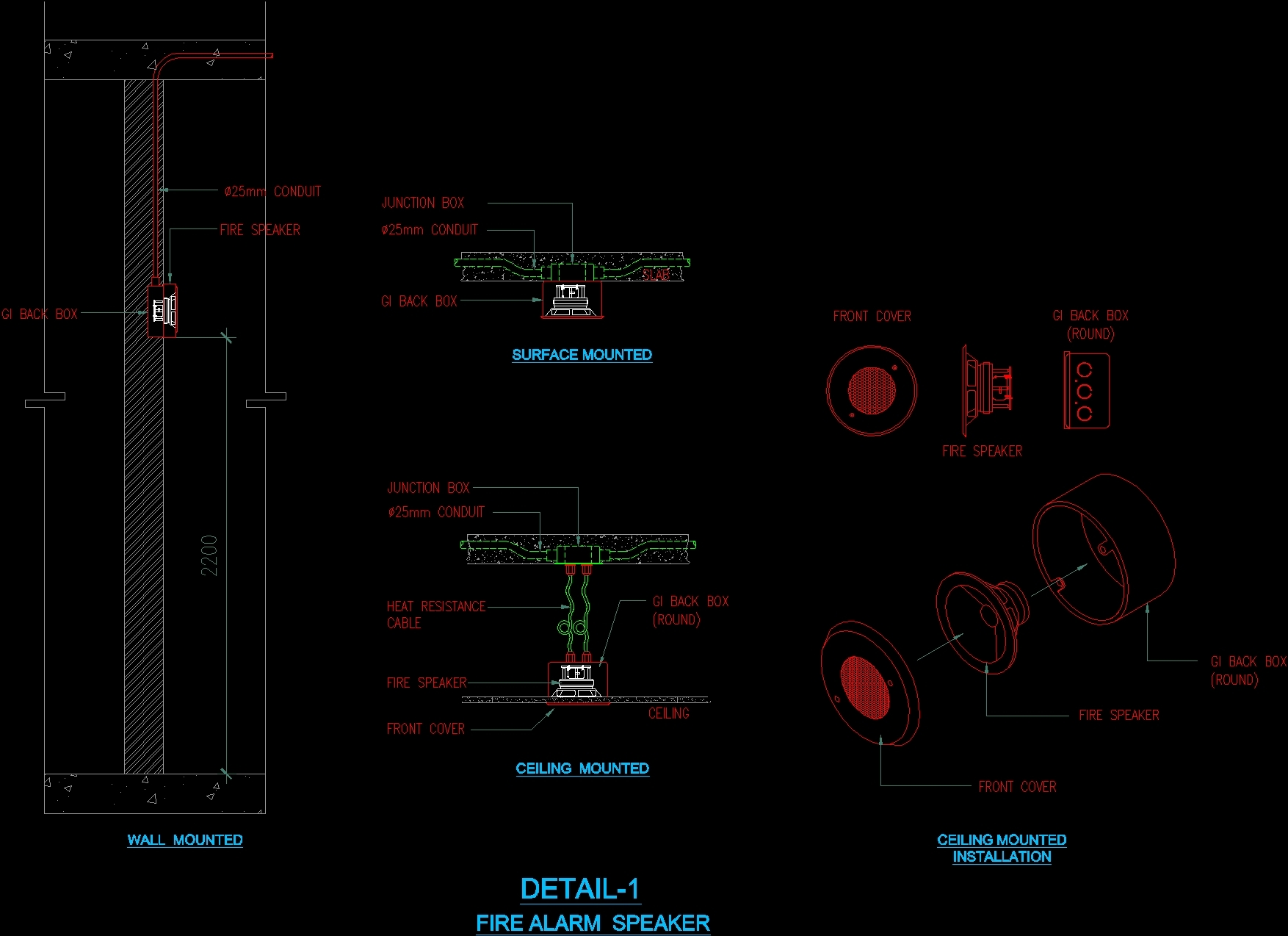 Fire Alarm Devices Dwg Detail For Autocad Designs Cad