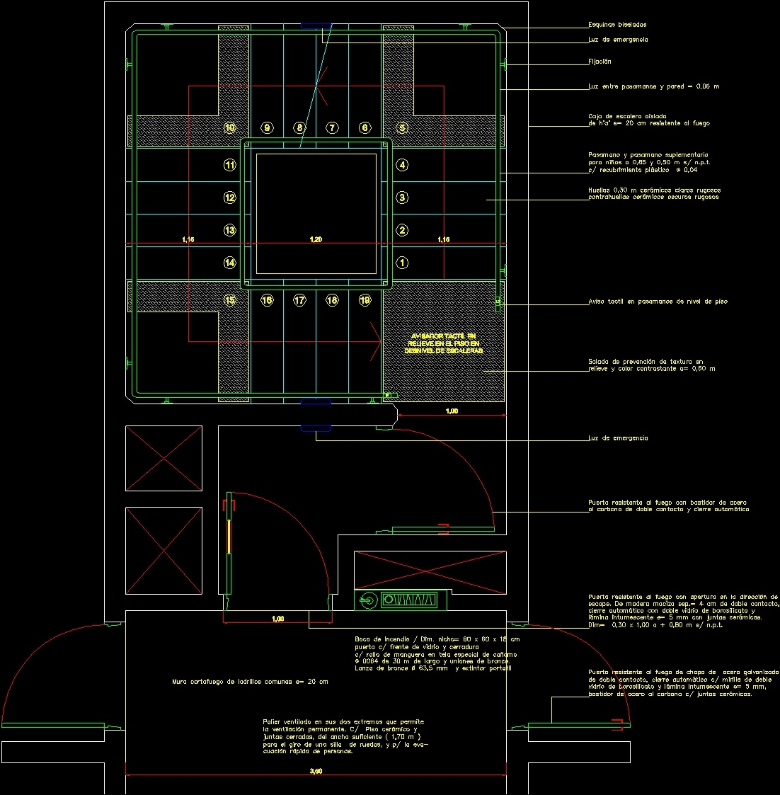Fire Escape Stairs DWG Detail For AutoCAD