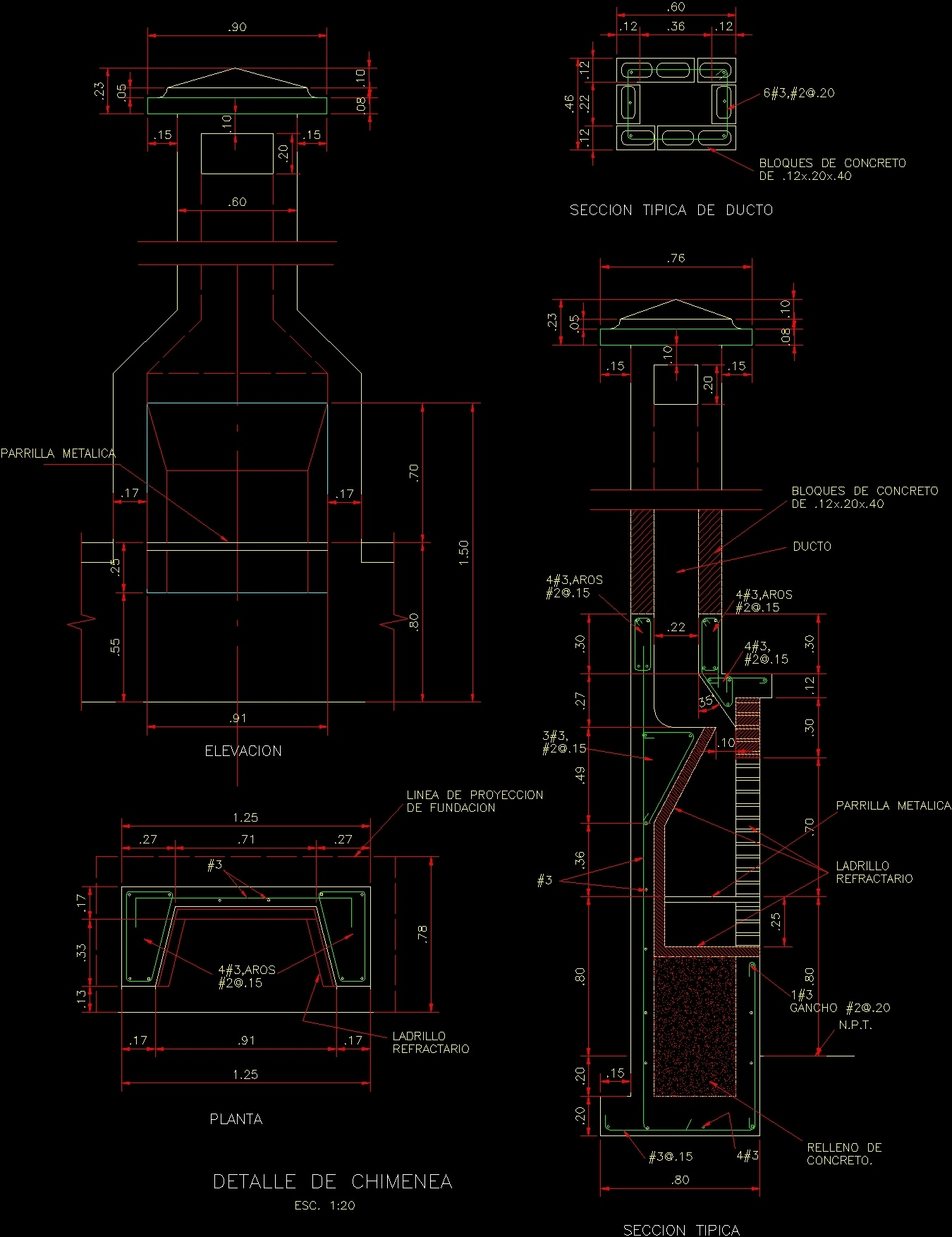 fireplace stove  u2013 barbacue dwg section for autocad