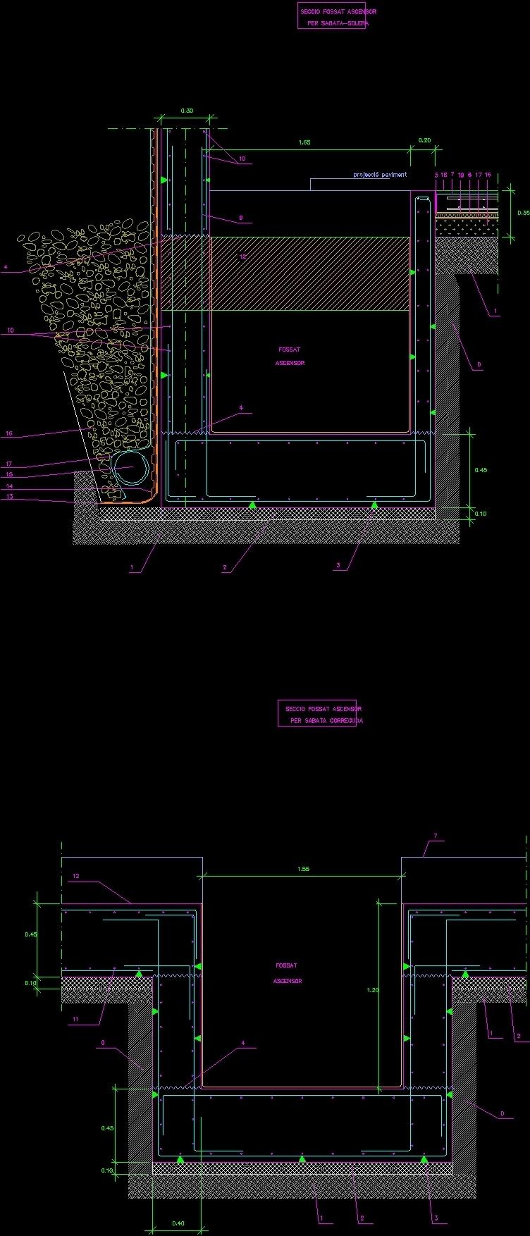Hollow Elevator Dwg Detail For Autocad Designscad