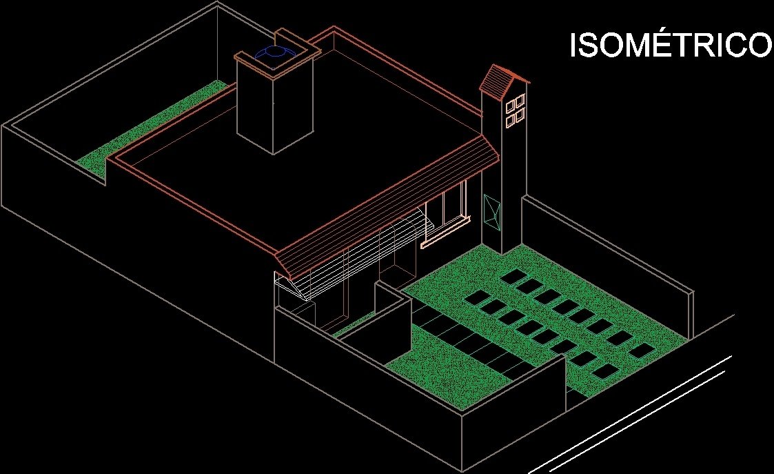 Isometric house 2d dwg block for autocad designs cad for 2d building drawing