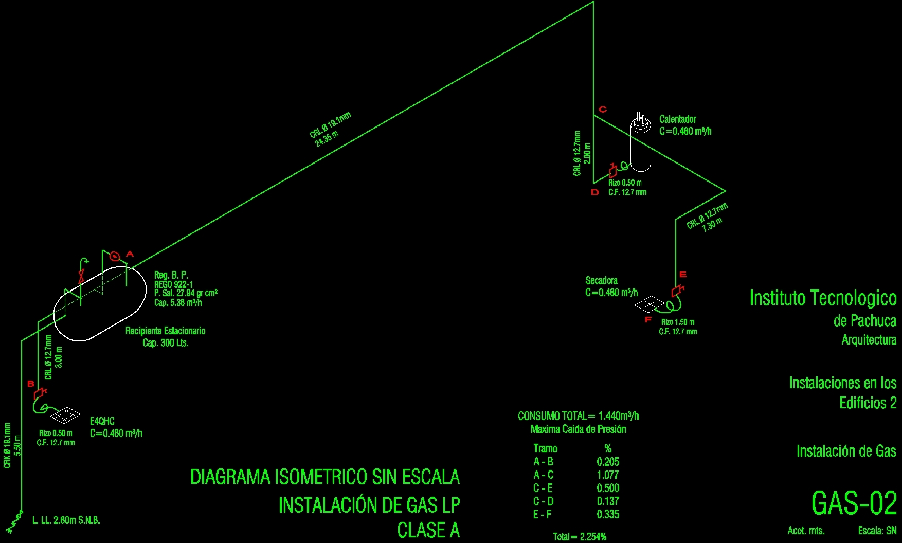 Isometric gas dwg block for autocad designs cad for Instalacion de gas lp