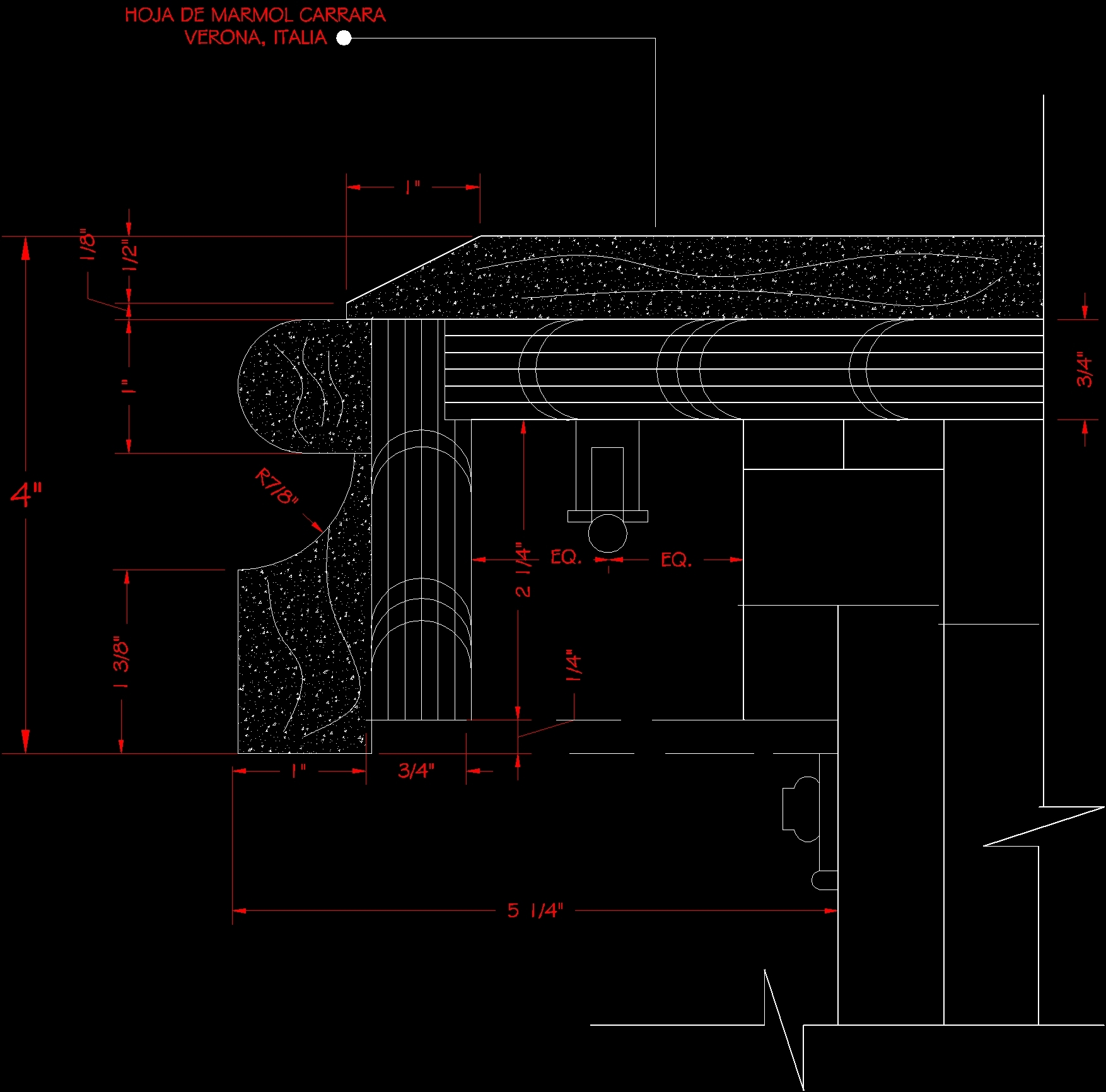 Marble Covering Dwg Section For Autocad Designs Cad