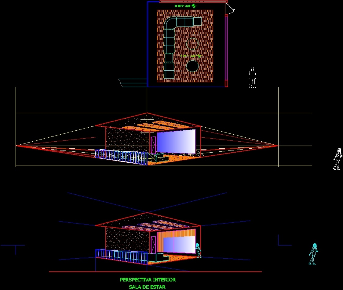 Method To Draw Perspectives DWG Block for AutoCAD