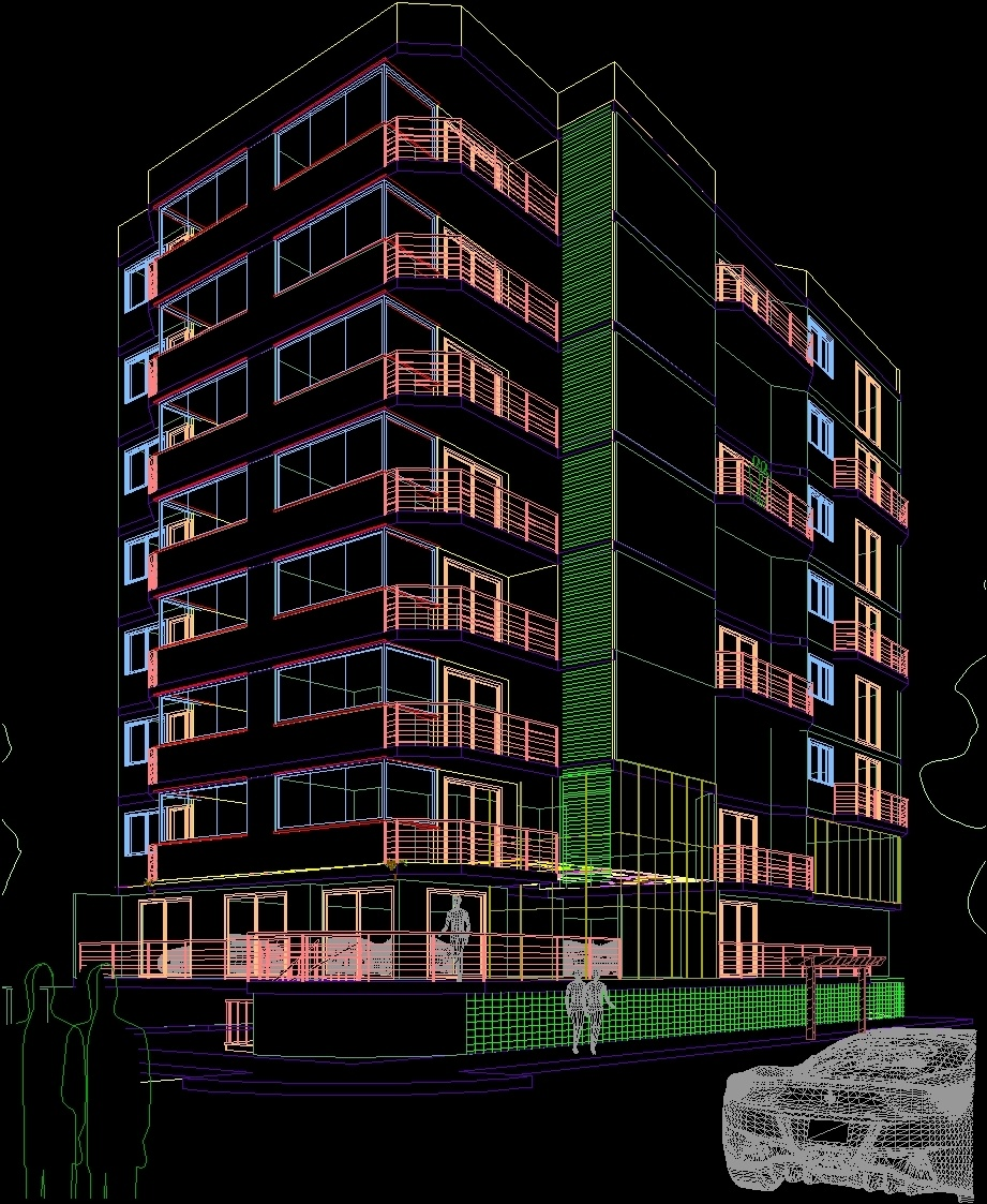 Perspective In Facade DWG Detail for AutoCAD  Designs CAD