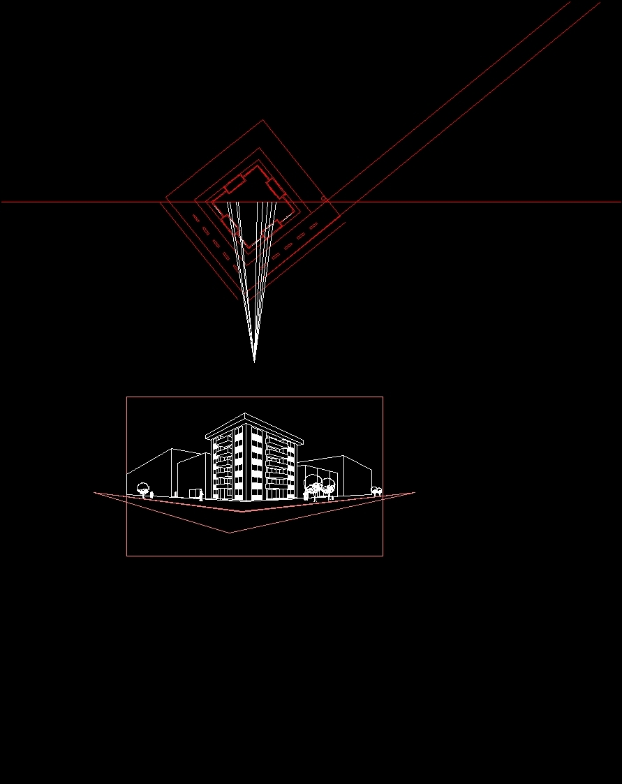 Perspective View Dwg Block For Autocad Designscad