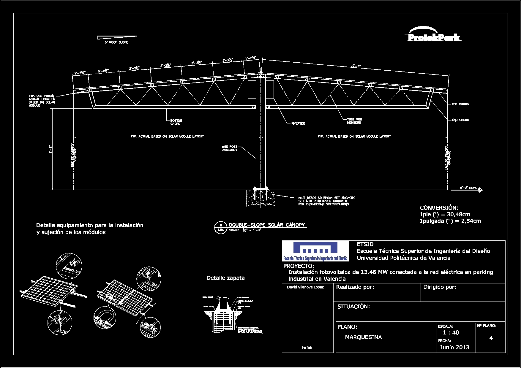 Photovoltaic Shelter Dwg Block For Autocad Designs Cad