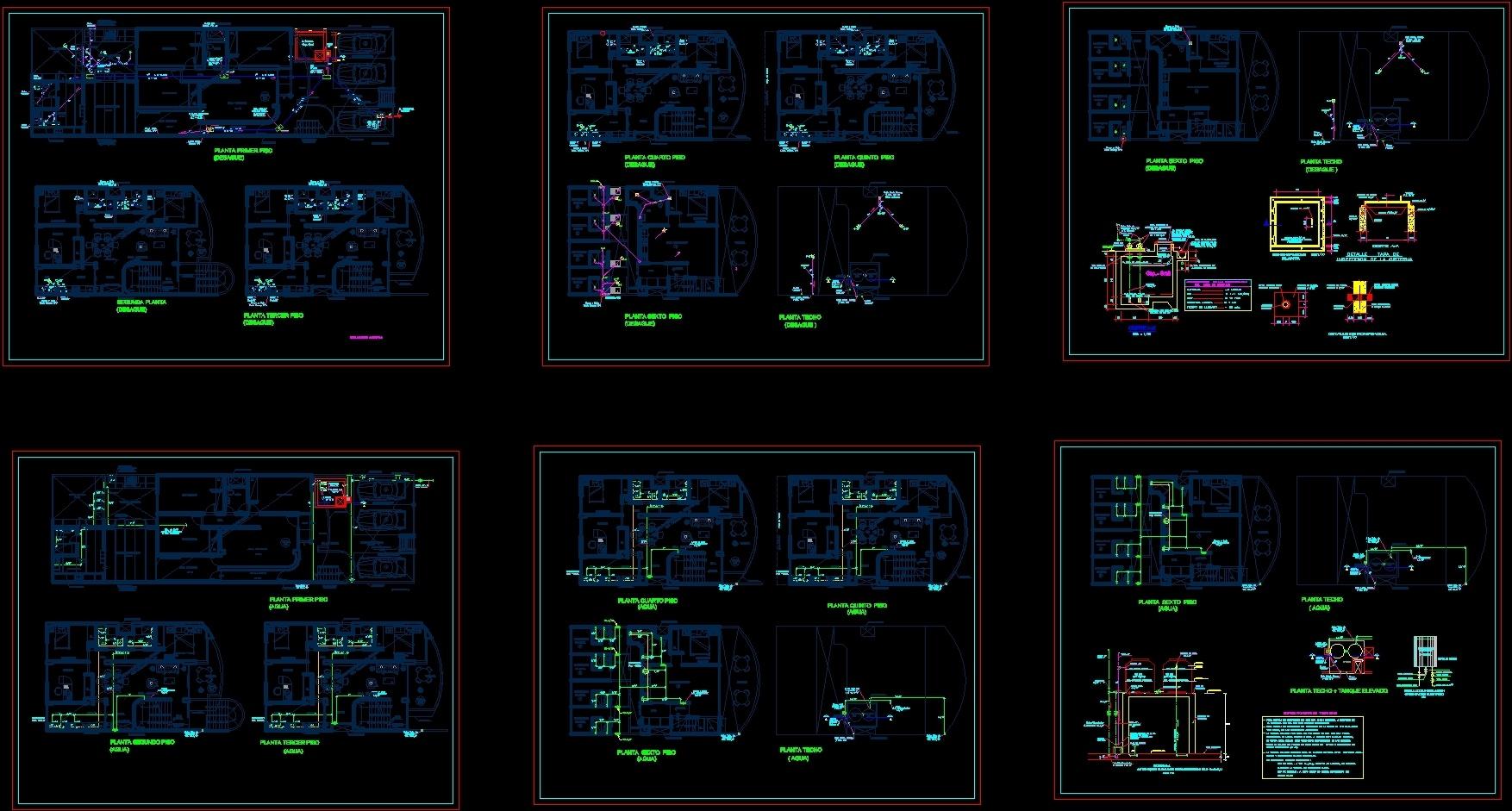 Plan Tdrainage Networks Dwg Plan For Autocad Designscad