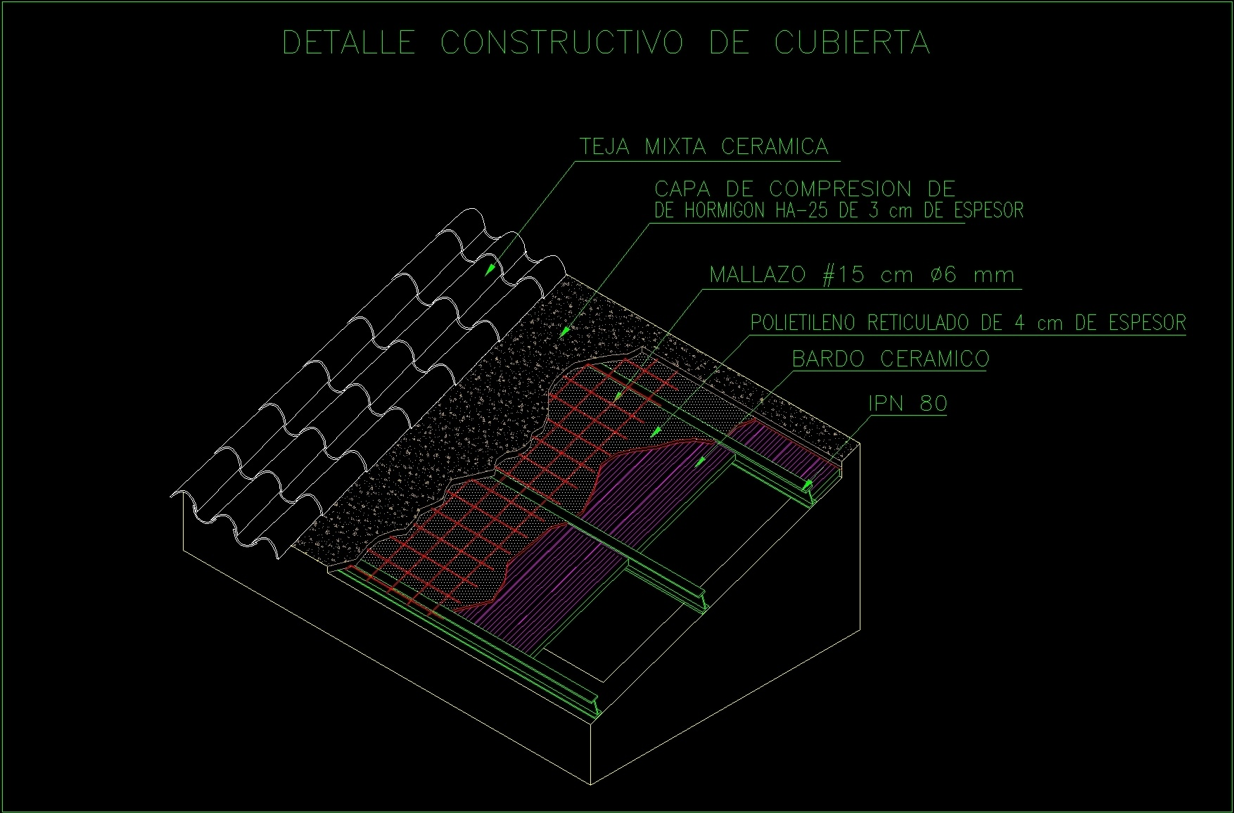 Roof Of Colonial Tiles Dwg Block For Autocad Designs Cad