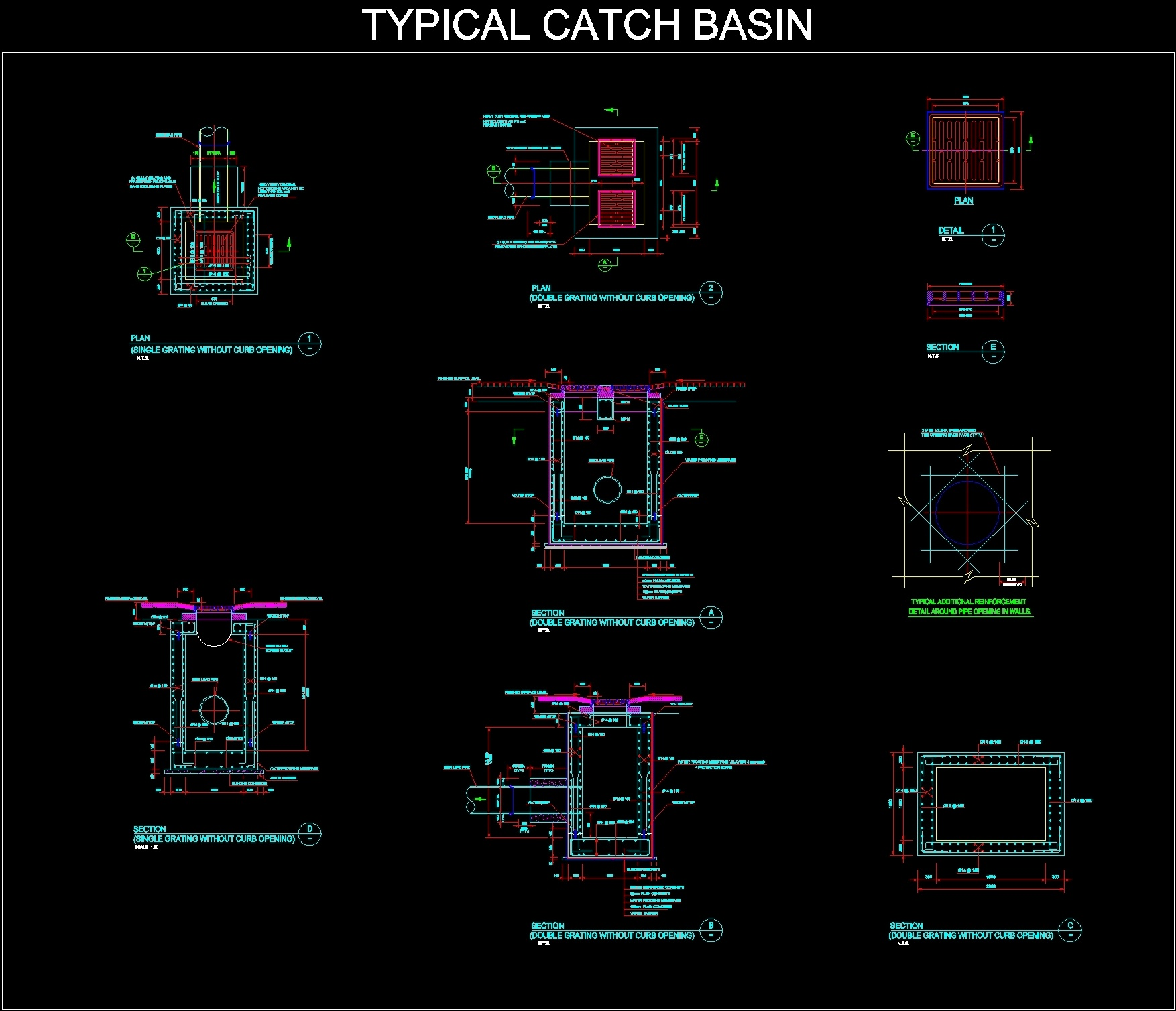 Sanitary Rain Drainage Dwg Block For Autocad Designs Cad