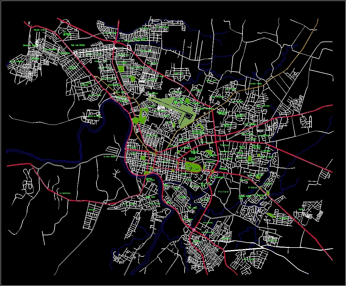 Santiago map dwg block for autocad designs cad file type dwg gumiabroncs Image collections