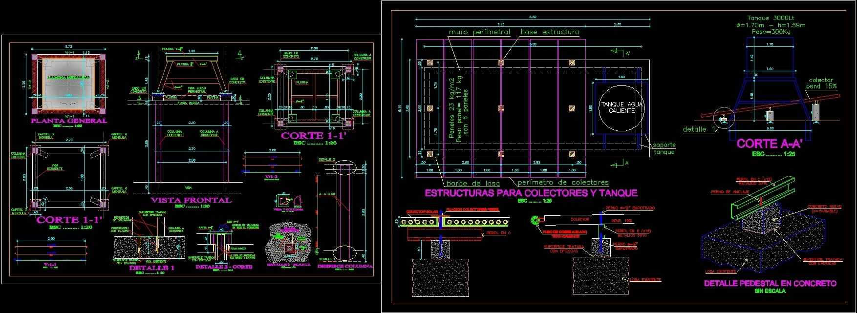 Solar Panel Water Tank Dwg Full Project For Autocad