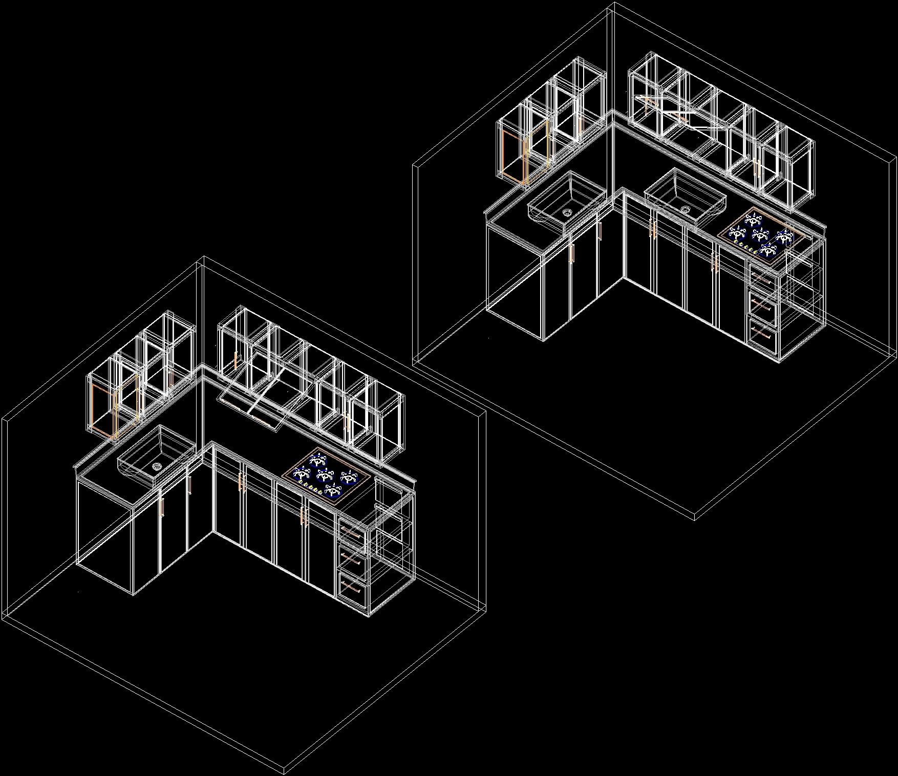 Kitchen Design Dwg stainless steel kitchen dwg block for autocad • designscad