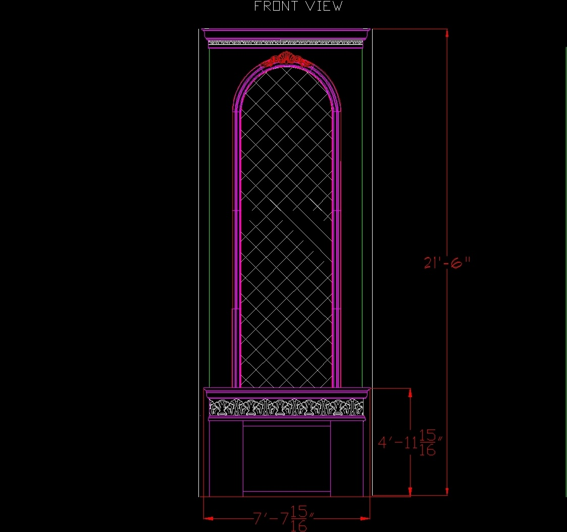 Stone Elevation Cad Block : Stone fireplace stove view dwg block for autocad designscad