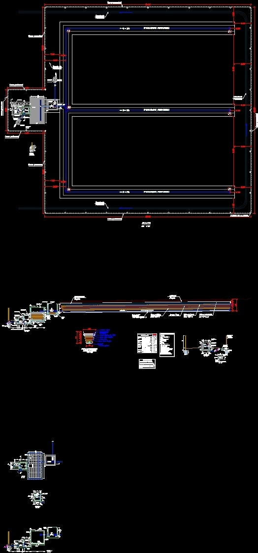 system gallery filtrante uptake dwg plan for autocad
