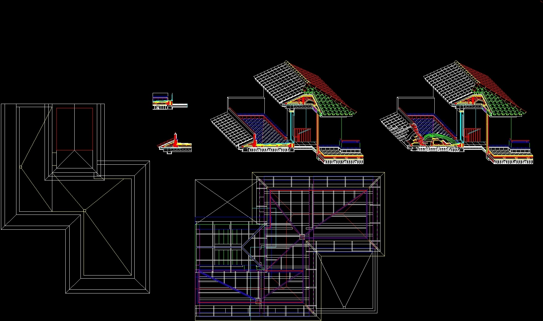 Terrace Perspective DWG Section for AutoCAD  DesignsCAD