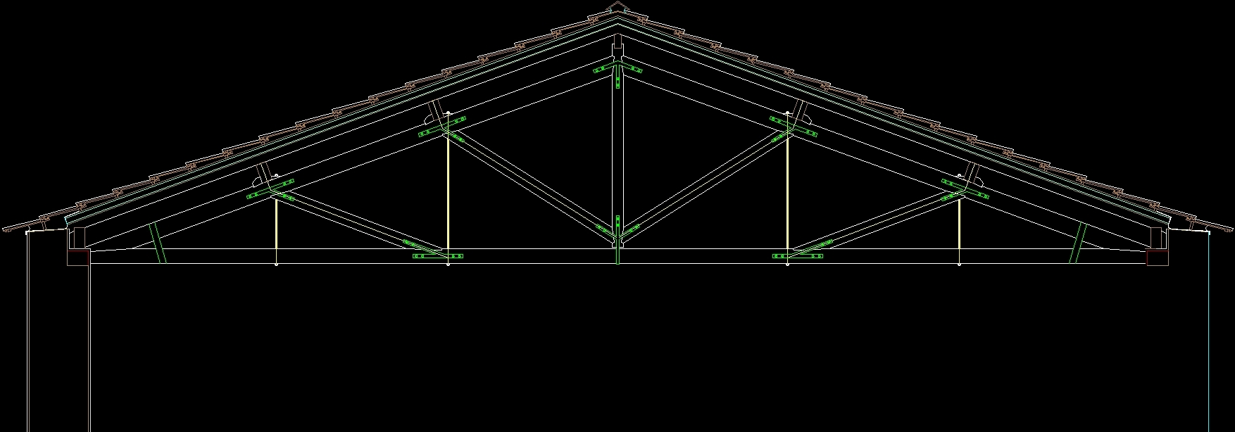 Tile Wooden Roof DWG Detail for AutoCAD • DesignsCAD