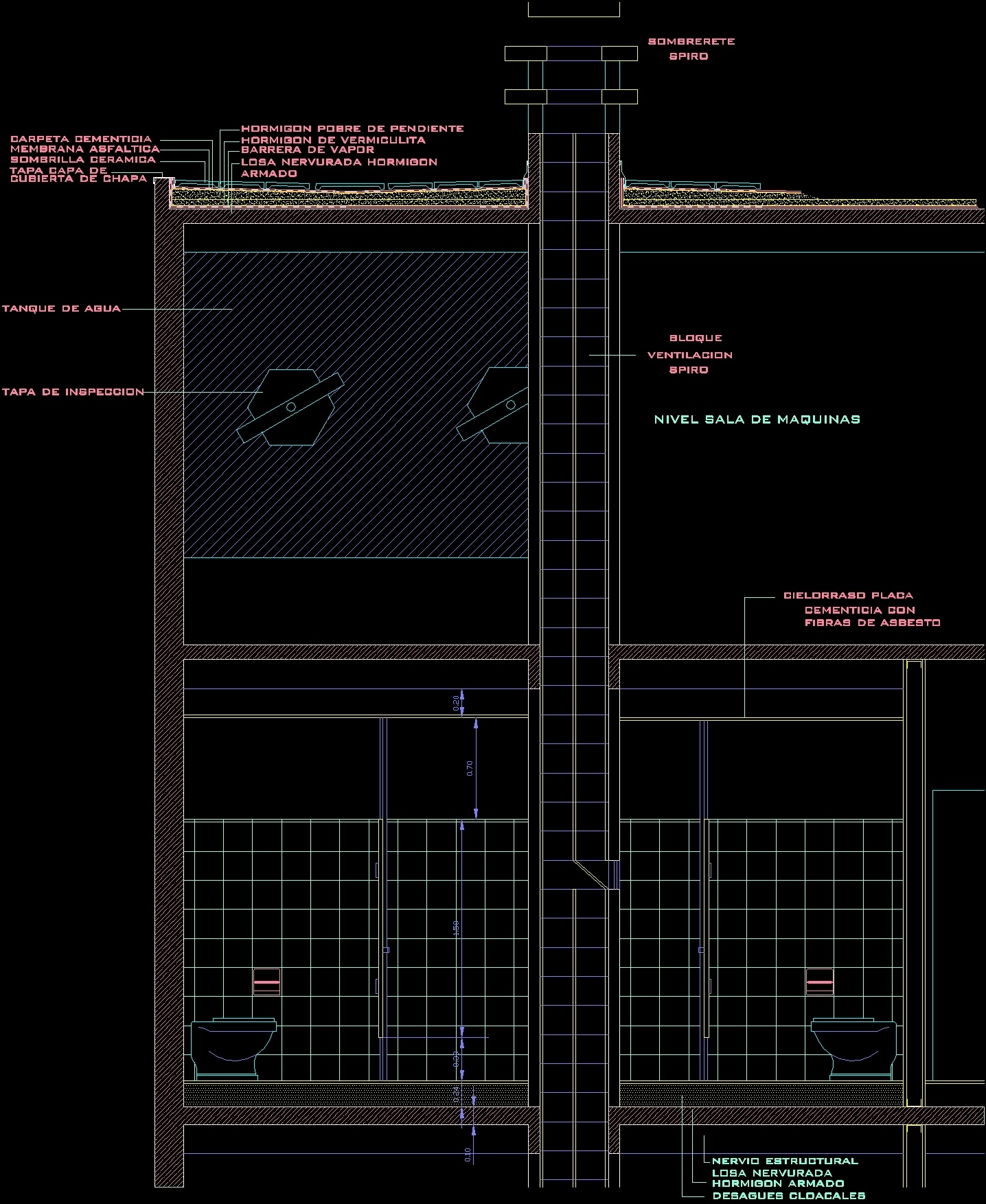 Ventilation bathroom by spyro conduit dwg section for autocad designscad - Cad bathroom design ...