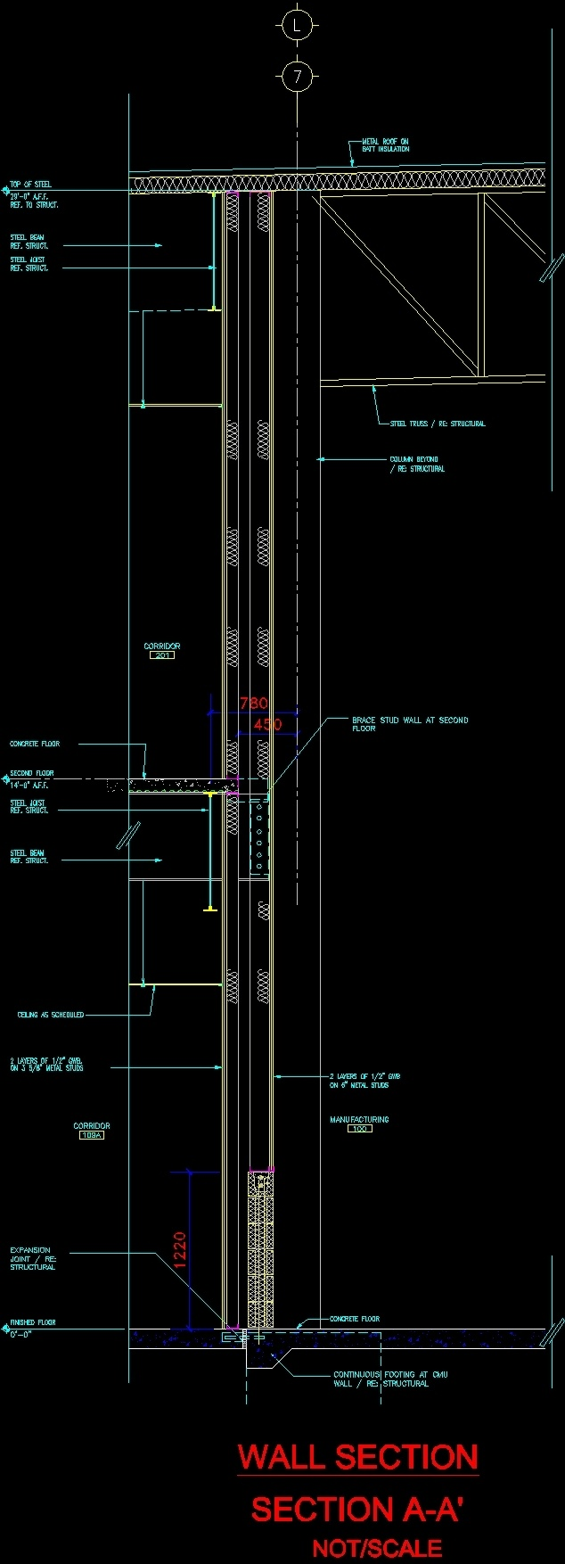 Verticalchain For Wall Angle Bonds Dwg Detail For Autocad