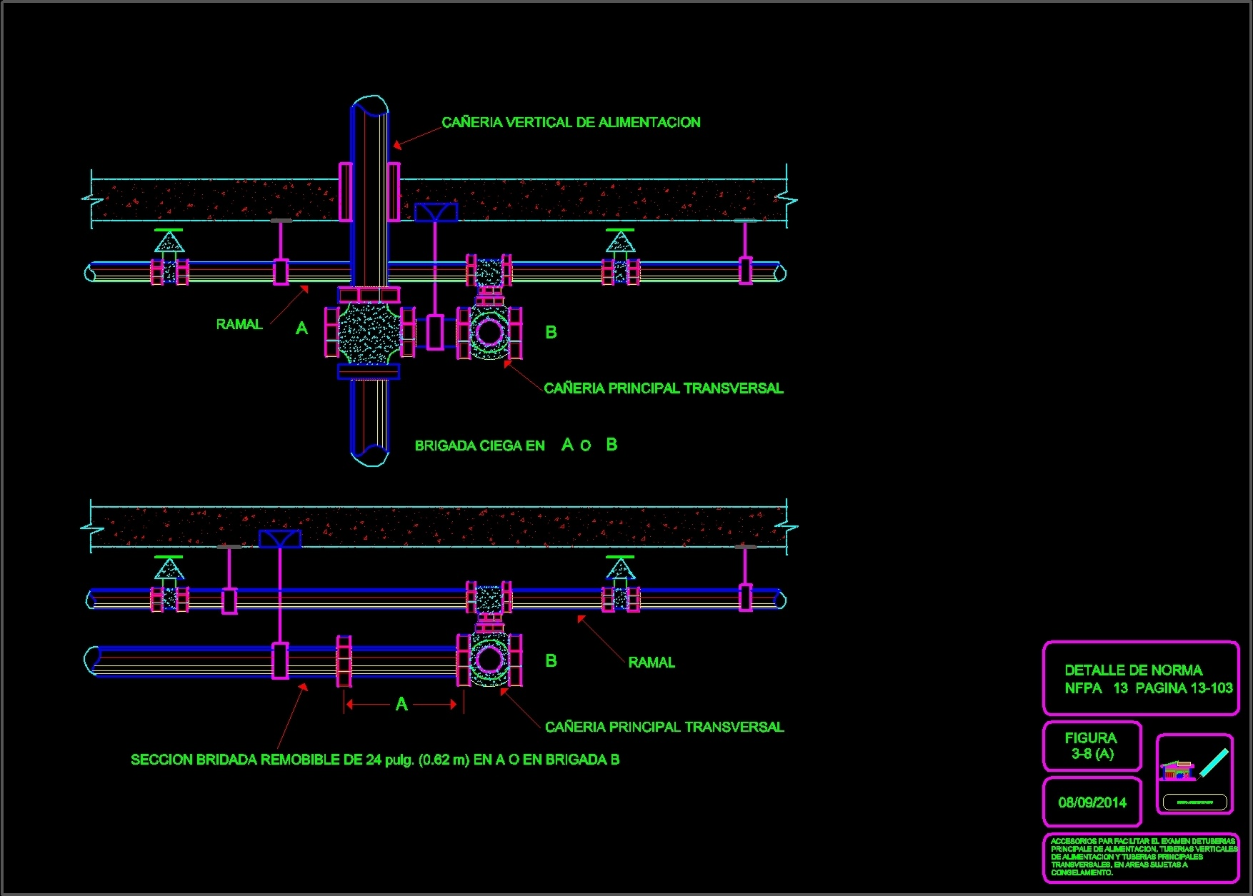 house wiring materials water fire sprinklers dwg block for autocad bull designs cad #8