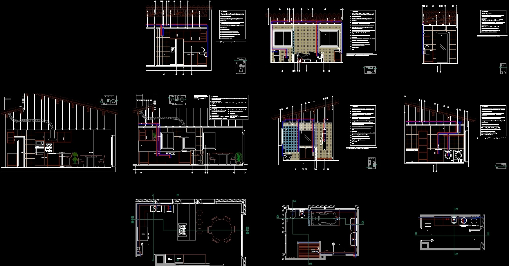 Water Installation Kitchen Bathroom And Laundry Dwg Plan For Autocad Designs Cad