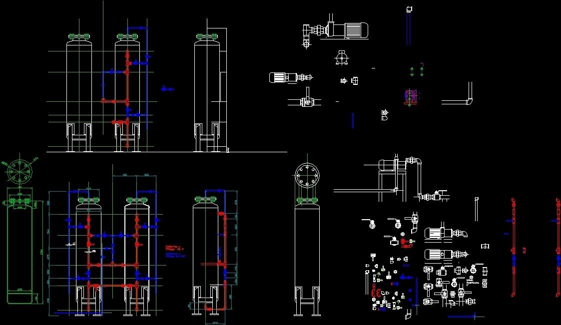 Water Softener System Water Softener Dwg Block For