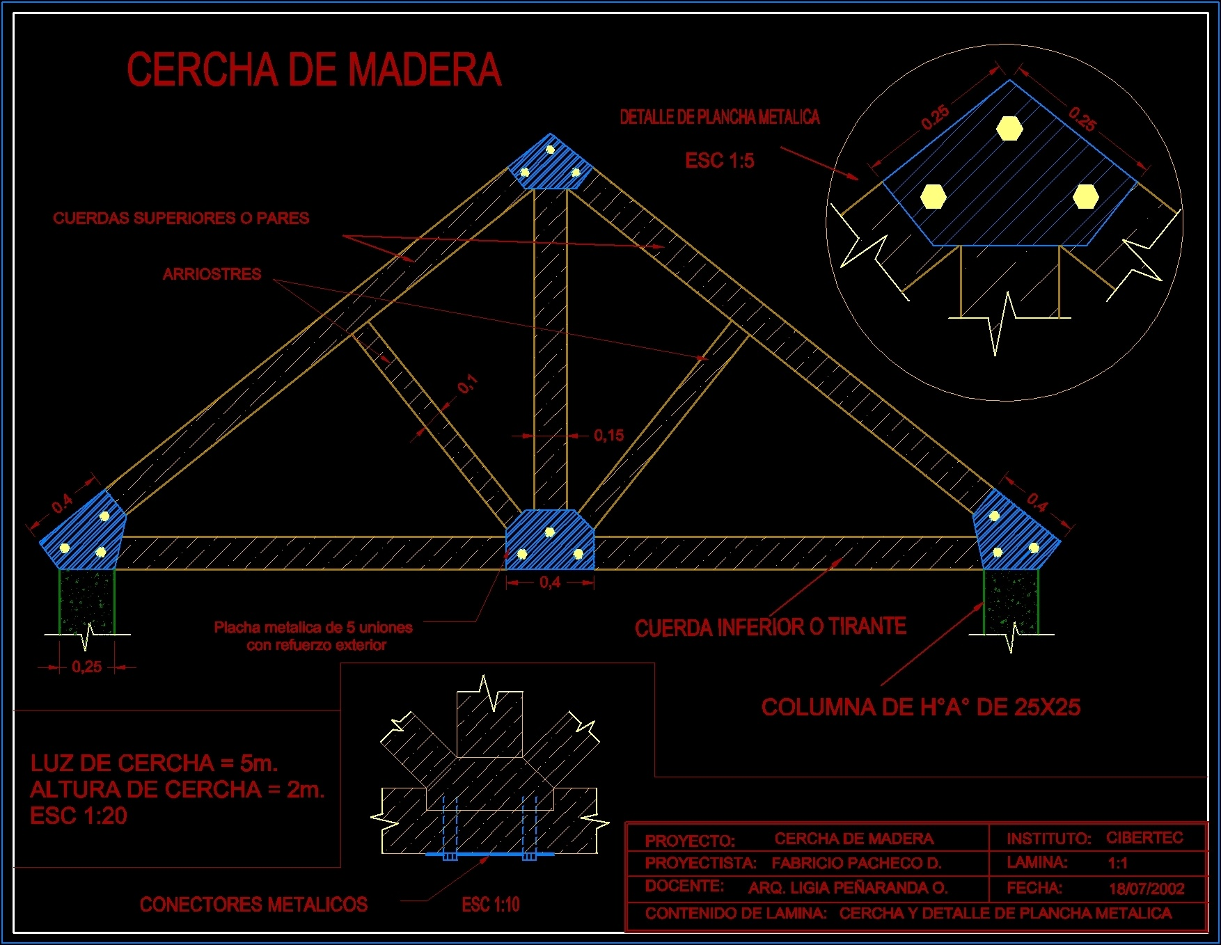 Wooden Truss Dwg Block For Autocad Designs Cad