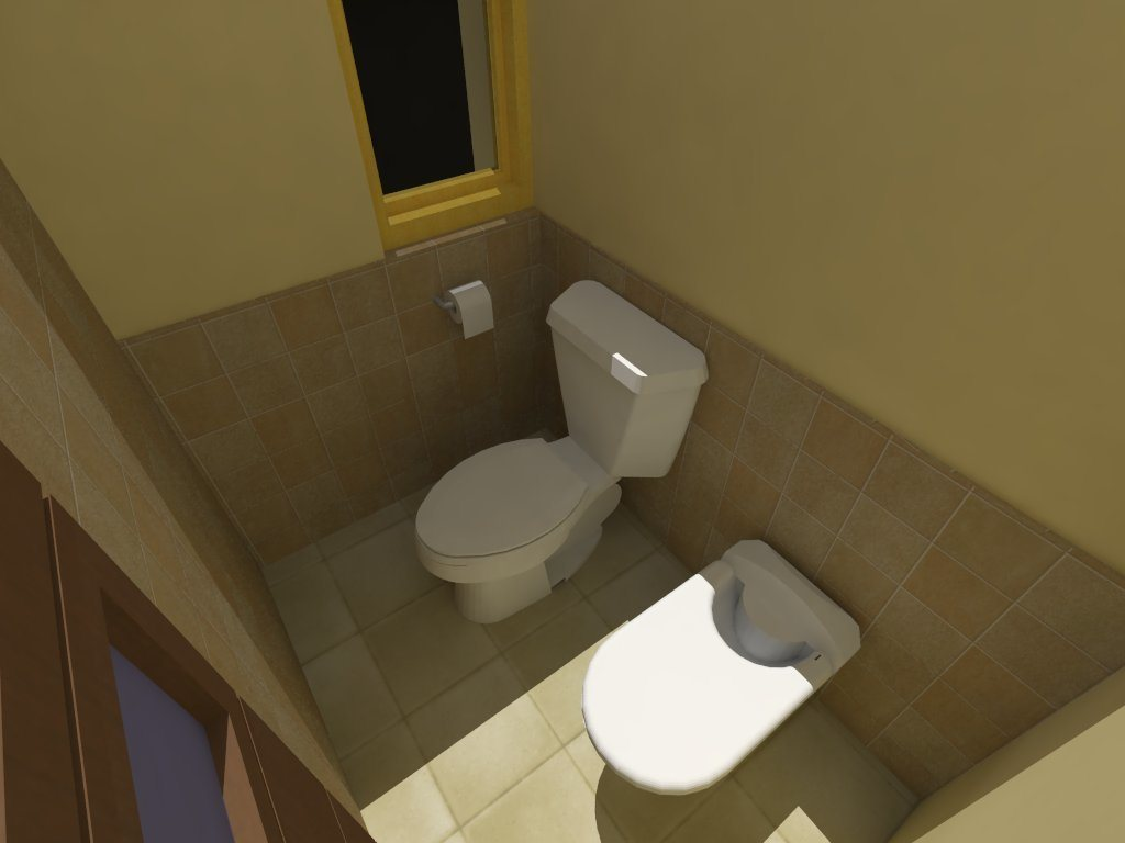 Bathroom divided by zones 3d dwg model for autocad for Bathroom zone 3