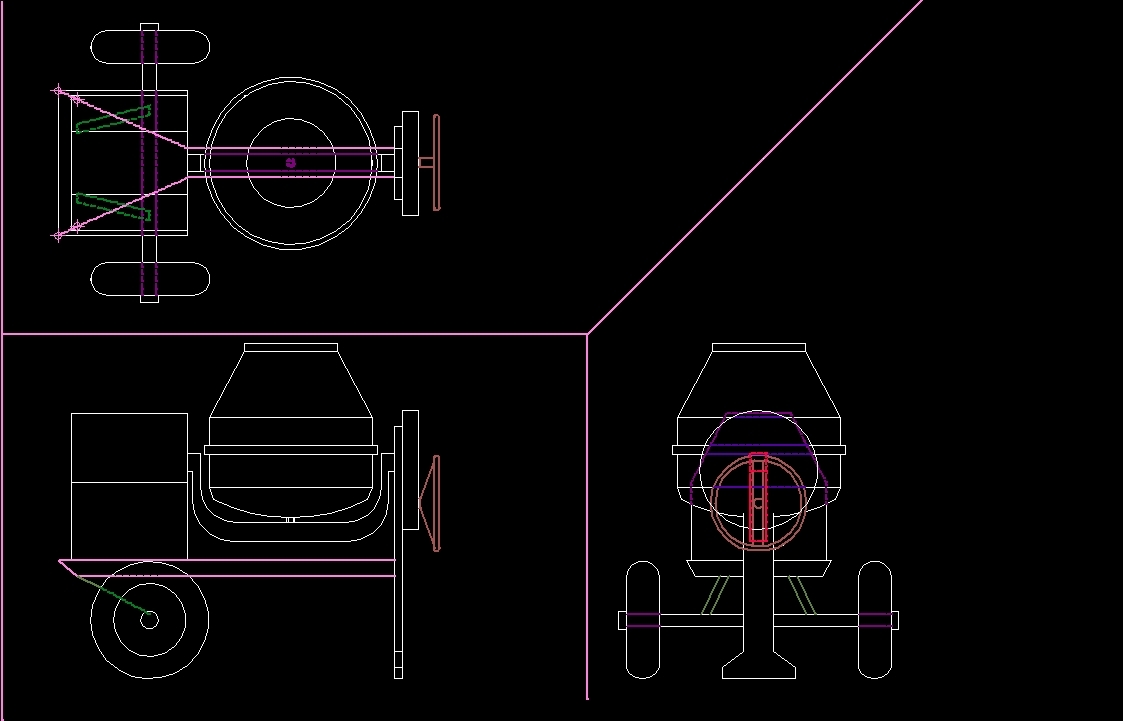 Alaysis Of A Cement Mixer Dwg Block For Autocad Designs Cad