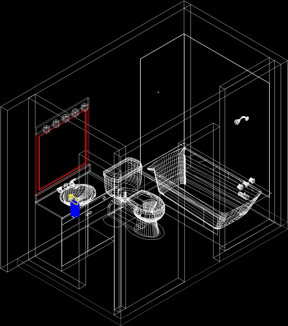 Bath room 3d dwg detail for autocad designs cad for Room design cad