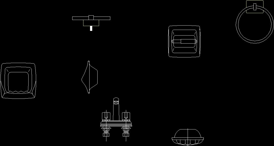 Bathroom Accessories DWG Block for AutoCAD • Designs CAD