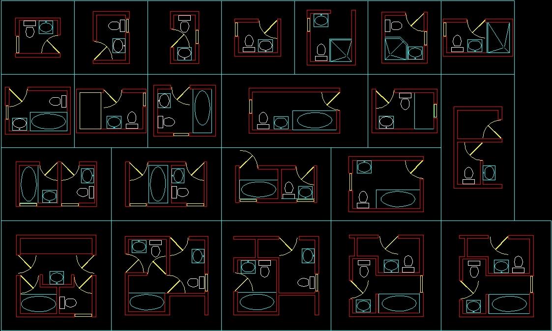 Bathroom Blocks DWG Block for AutoCAD - Designs CAD