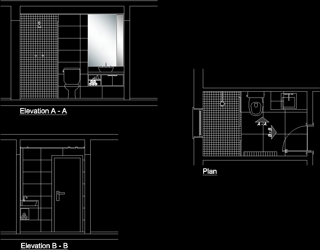 Bathroom Dwg Section For Autocad Designscad