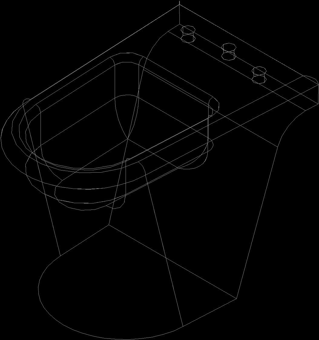 Bidet 3D DWG Model For AutoCAD • DesignsCAD