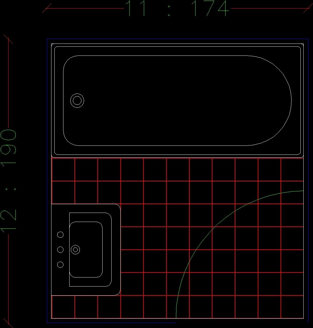 Blocks bath dwg block for autocad designscad for Autocad bathroom blocks