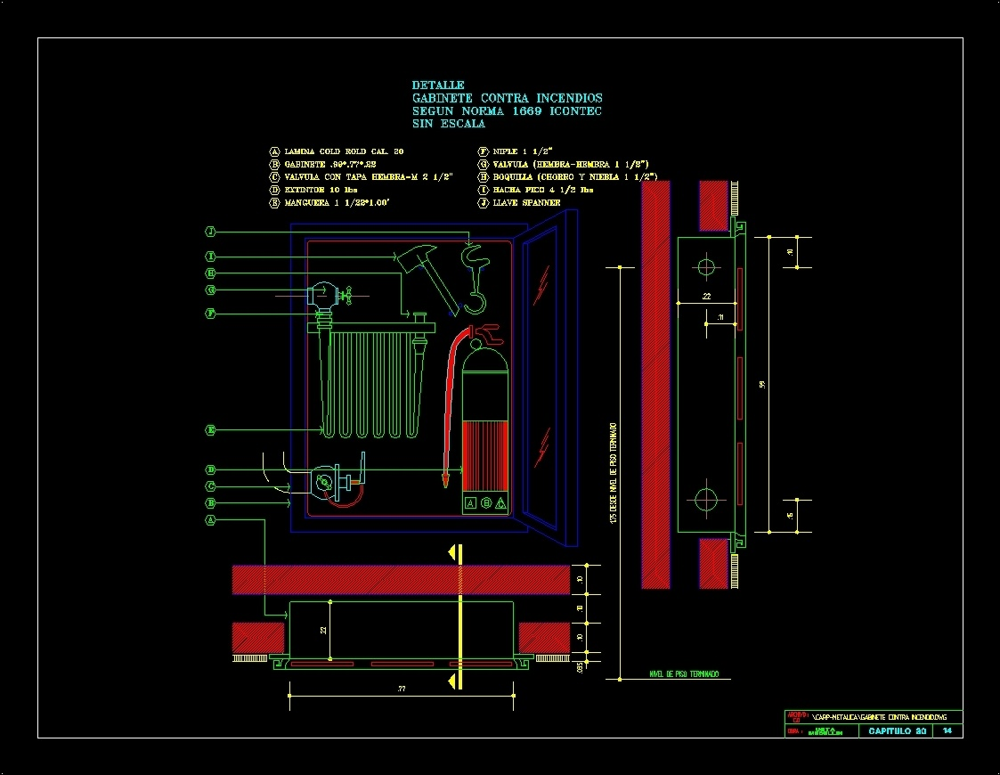 Cabinets Against Fire Dwg Detail For Autocad Designs Cad