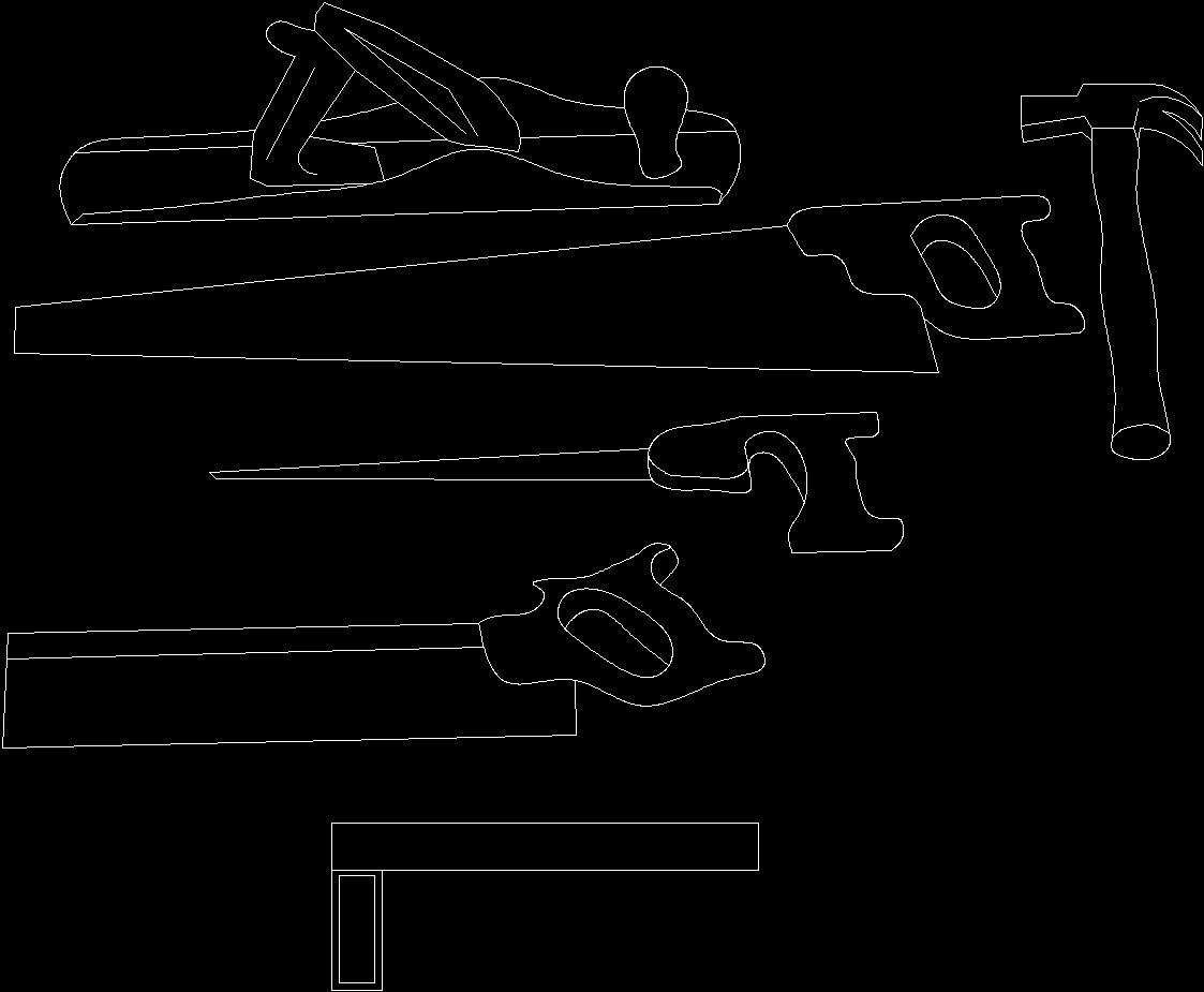 Carpentry Tools Dwg Block For Autocad Designs Cad