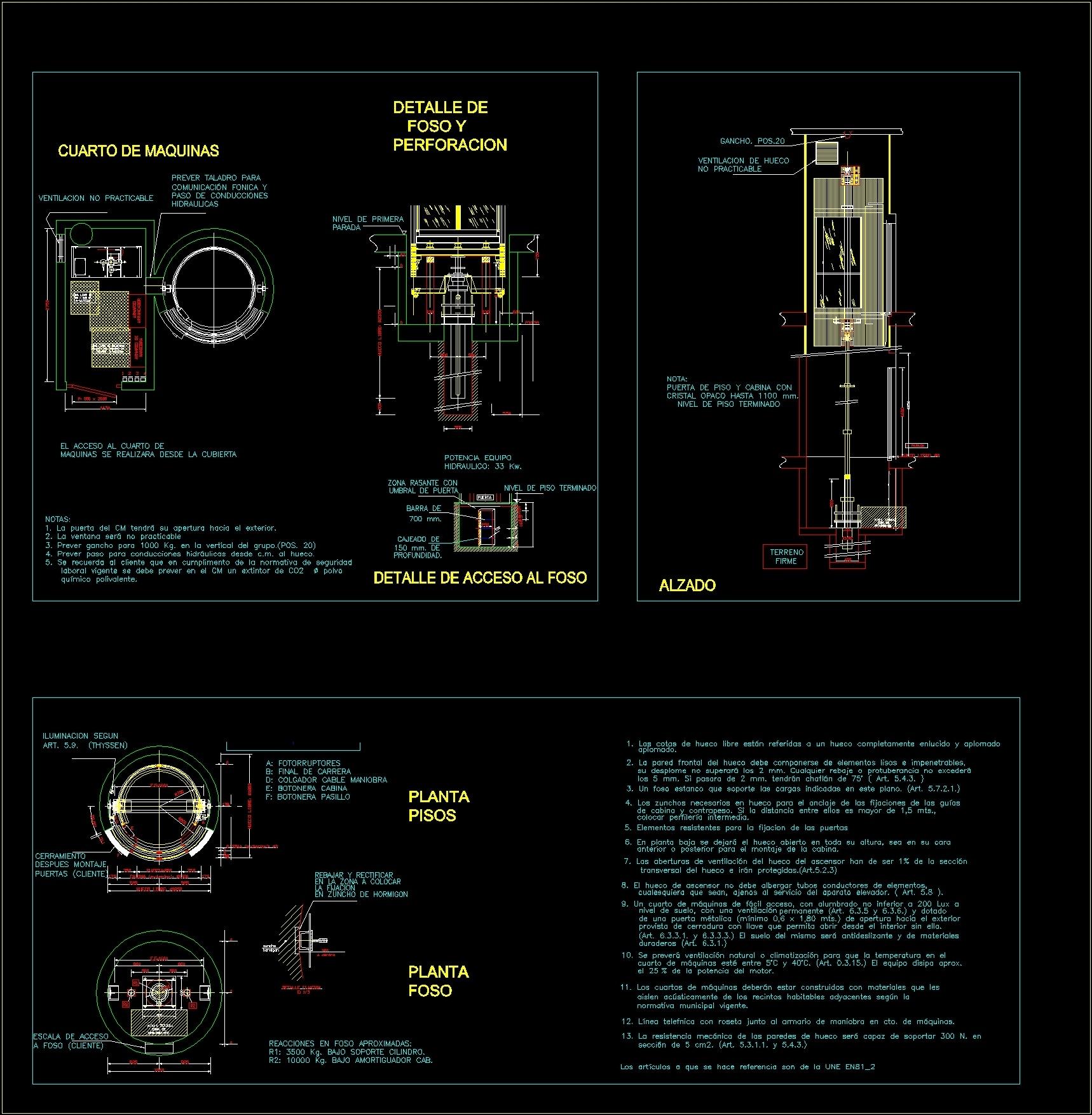 Circular Elevator Dwg Detail For Autocad Designs Cad