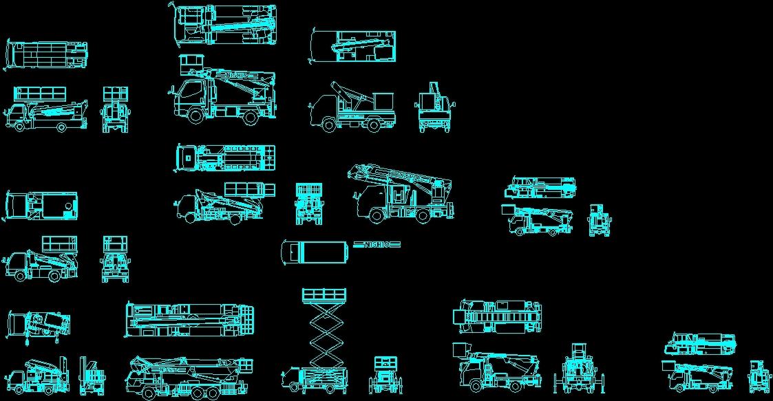 Mobile Crane Cad Block : Cranes truck dwg model for autocad designs cad