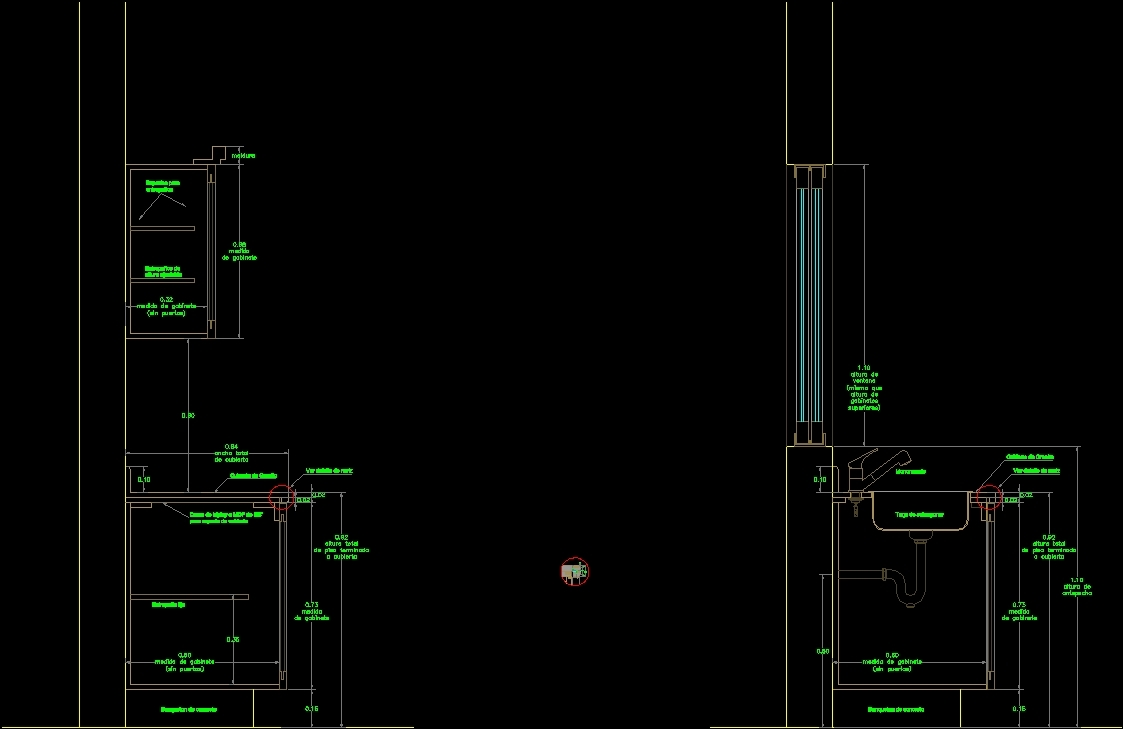 Detail Kitchen Cabinets DWG Detail for AutoCAD - Designs CAD