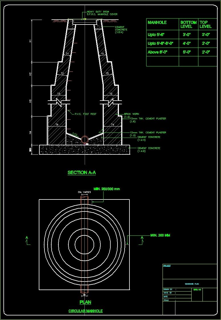Detail Manhole Dwg Detail For Autocad Designs Cad
