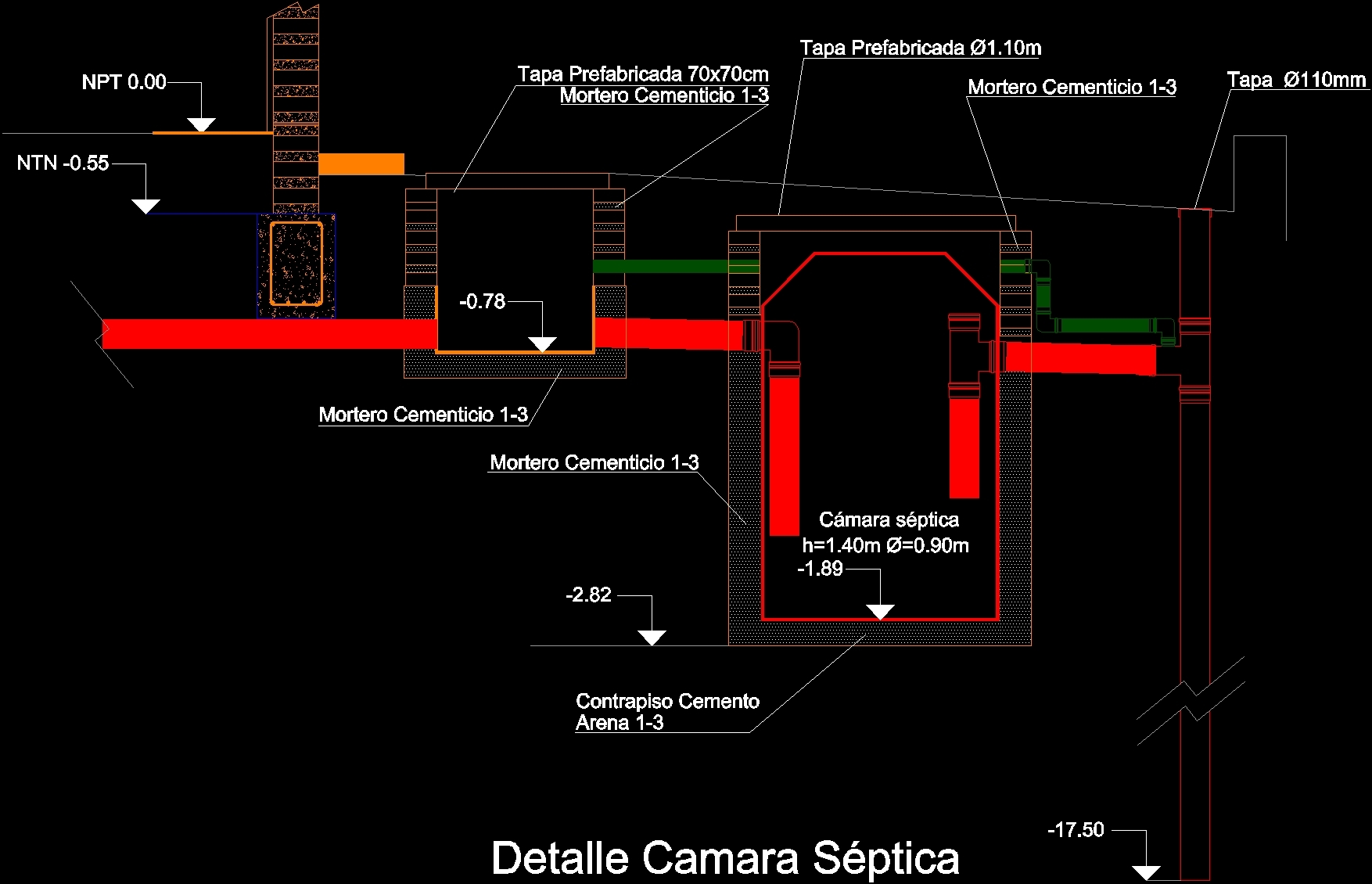 Detail Septic Tank Pvc Dwg Detail For Autocad Designs Cad