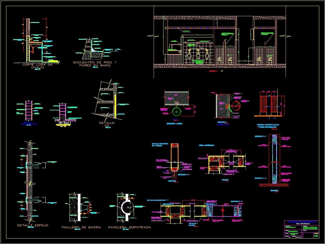 Details baths dwg plan for autocad designscad for Inodoro dwg