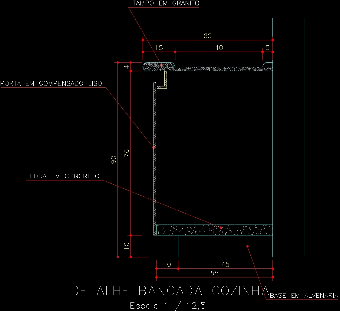 Details Of Kitchen Table Dwg Section For Autocad Designs Cad