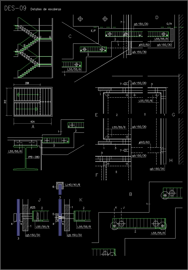 Details Staircase Dwg Detail For Autocad Designs Cad