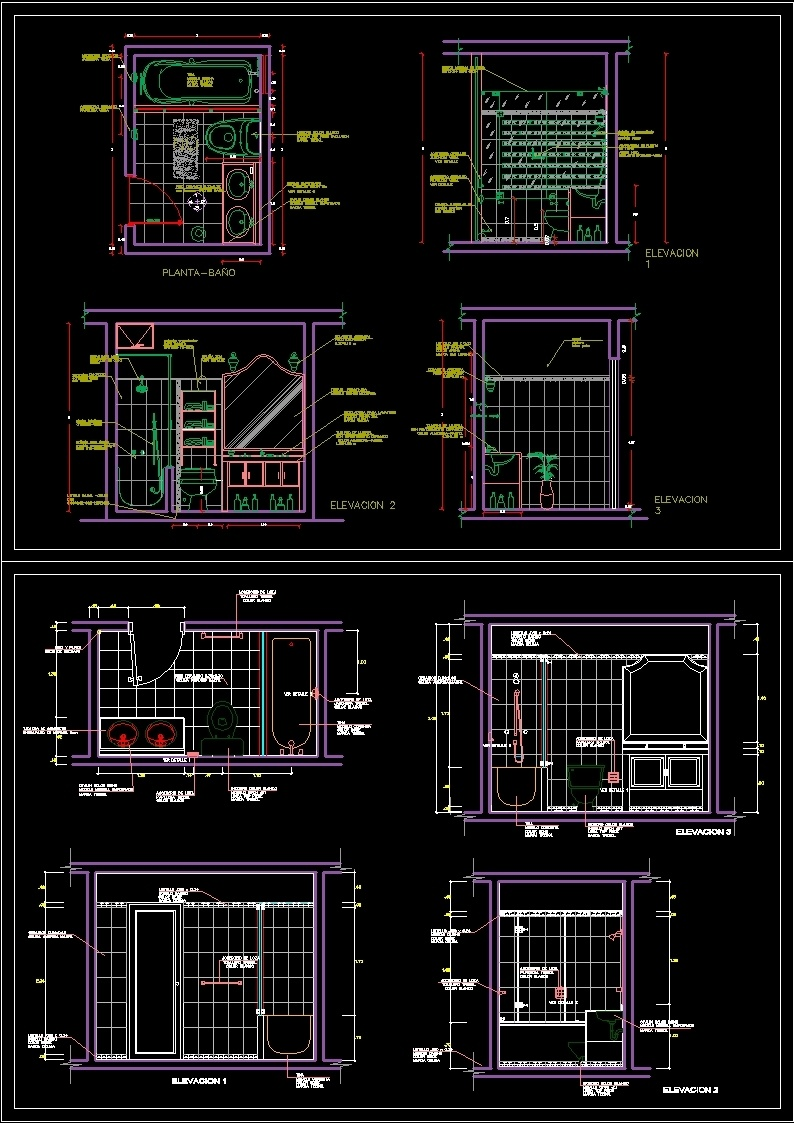 Detalle de ba o dwg block for autocad designs cad for Detalles dwg