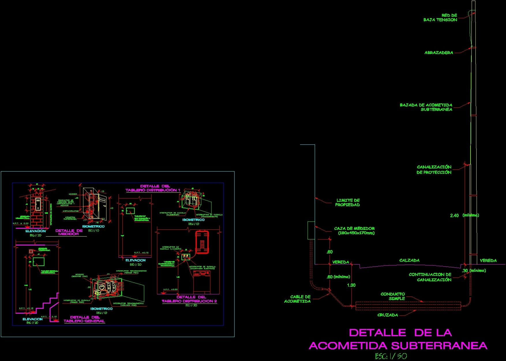 Detalles electricos dwg detail for autocad designs cad for Detalles dwg